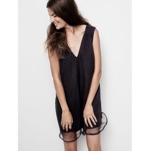Madewell V-Neck Nightshine Black Shift Dress Sz 4